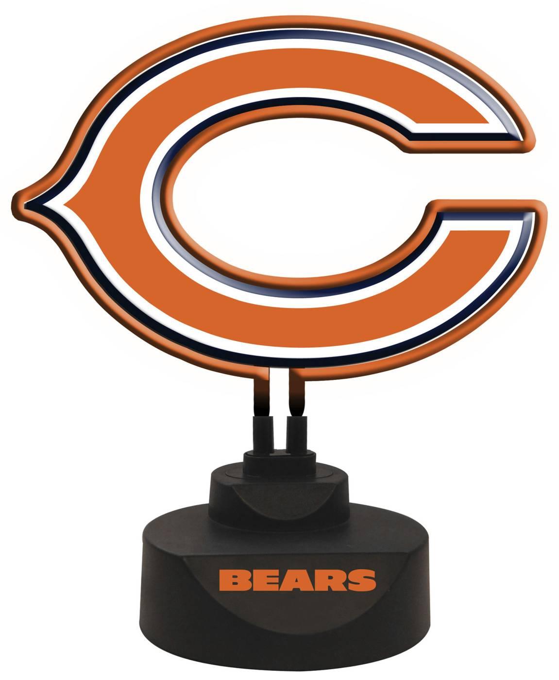 Chicago Bears Team Logo Neon Light