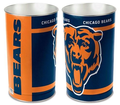 Chicago Bears Metal Wastebasket