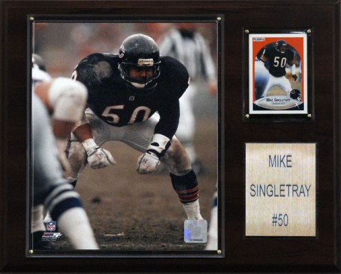 "Chicago Bears Mike Singletary 12 x 15"" Player Plaque"