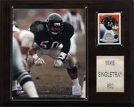 """Chicago Bears Mike Singletary 12 x 15"""" Player Plaque"""