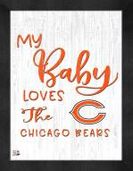 Chicago Bears My Baby Loves Framed Print