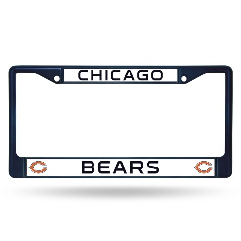 Chicago Bears Navy Colored Chrome License Plate Frame