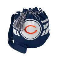 Chicago Bears Navy Ripple Drawstring Bucket Bag