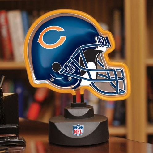 Chicago Bears Neon Helmet Desk Lamp