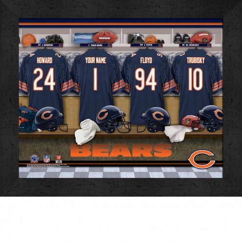 Chicago Bears NFL Personalized Locker Room 11 x 14 Framed Photograph