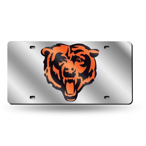 Chicago Bears NFL Silver Laser License Plate