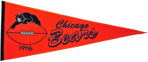 Chicago Bears NFL Throwback Pennant