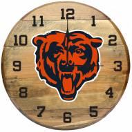 Chicago Bears Oak Barrel Clock