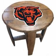 Chicago Bears Oak Barrel Table