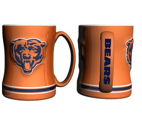 Chicago Bears Orange Sculpted Relief Coffee Mug