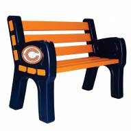 Chicago Bears Park Bench