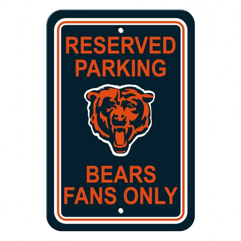 Chicago Bears Parking Sign