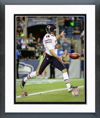 Chicago Bears Pat O'Donnell 2014 Action Framed Photo