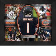 Chicago Bears Personalized 11 x 14 Framed Action Collage