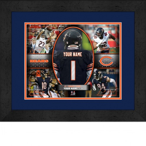 Chicago Bears Personalized 13 x 16 Framed Action Collage