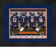 Chicago Bears Personalized Locker Room 13 x 16 Framed Photograph