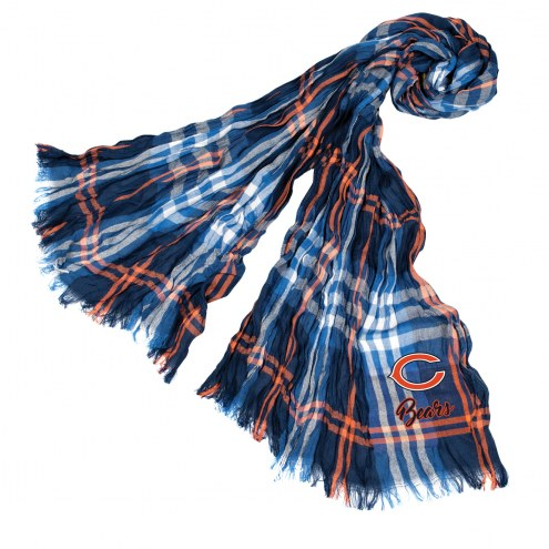 Chicago Bears Plaid Crinkle Scarf