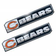 Chicago Bears Premium Edition Metal Car Emblem - 2 Pack