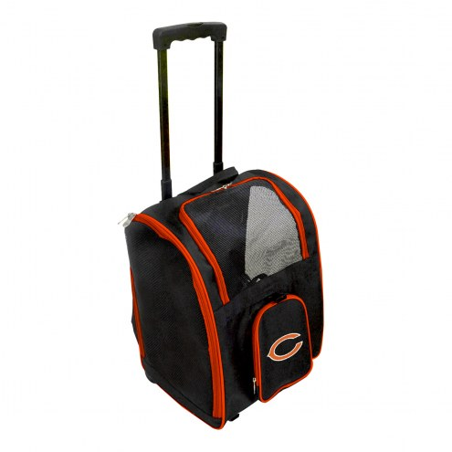Chicago Bears Premium Pet Carrier with Wheels