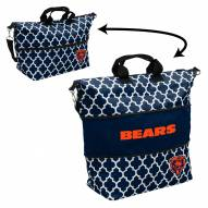 Chicago Bears Quatrefoil Expandable Tote