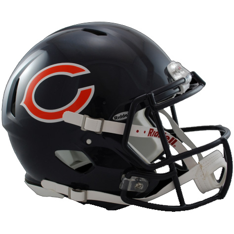 Chicago Bears Riddell Speed Full Size Authentic Football Helmet