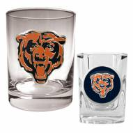 Chicago Bears Rocks Glass & Shot Glass Set