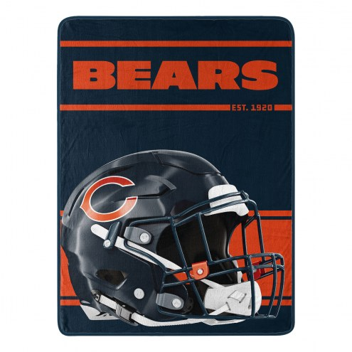 Chicago Bears Run Raschel Blanket