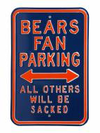 Chicago Bears Sacked Parking Sign