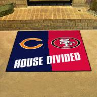 Chicago Bears/San Francisco 49ers House Divided Mat