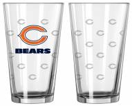 Chicago Bears Satin Etch Pint Glass - Set of 2