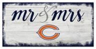 Chicago Bears Script Mr. & Mrs. Sign