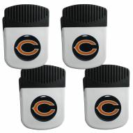 Chicago Bears 4 Pack Chip Clip Magnet with Bottle Opener
