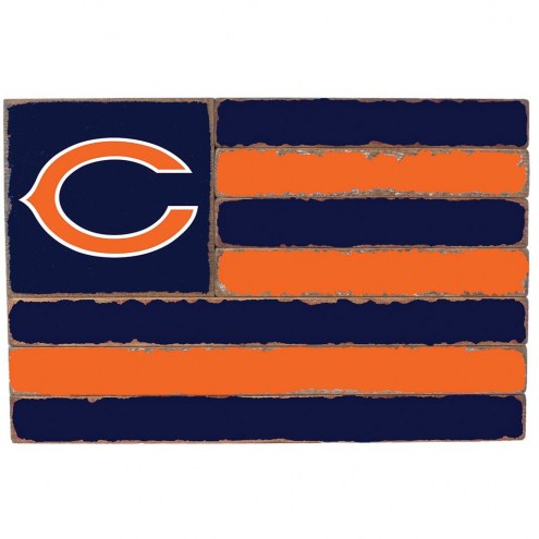 Chicago Bears Small Flag Wall Art