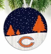 Chicago Bears Snow Scene Ornament