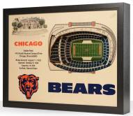 Chicago Bears 25-Layer StadiumViews 3D Wall Art