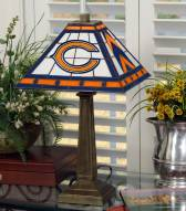 Chicago Bears Stained Glass Mission Table Lamp