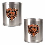 Chicago Bears Stainless Steel Can Coozie Set