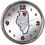 Chicago Bears State of Mind Chrome Clock