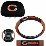 Chicago Bears Steering Wheel & Headrest Cover Set