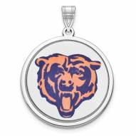 Chicago Bears Sterling Silver Disc Pendant