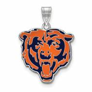 Chicago Bears Sterling Silver Enamel Pendant