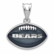 Chicago Bears Sterling Silver Enameled Football Pendant