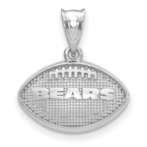 Chicago Bears Sterling Silver Football with Logo Pendant