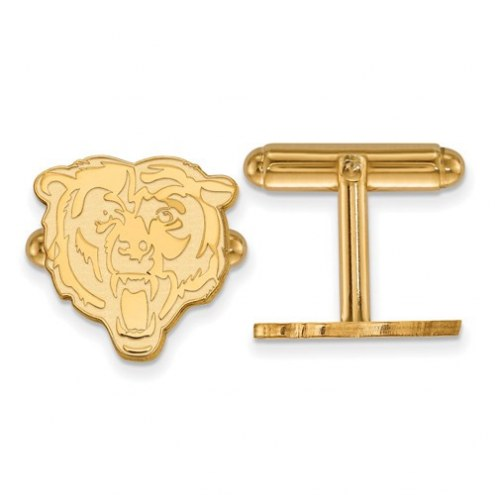 Chicago Bears Sterling Silver Gold Plated Cuff Links