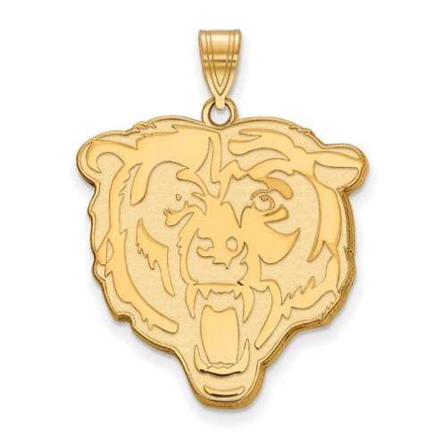 Chicago Bears Sterling Silver Gold Plated Extra Large Pendant