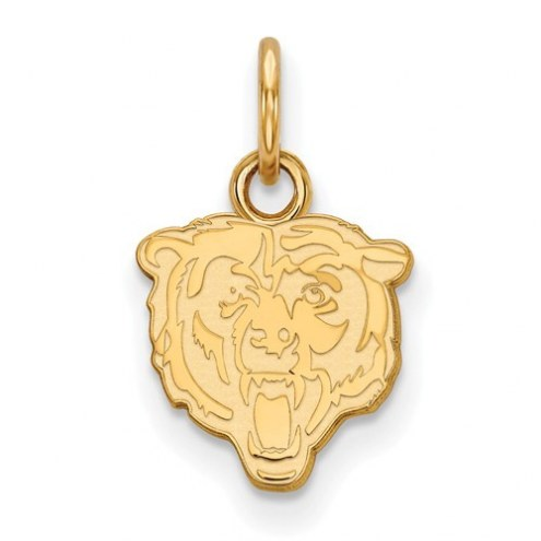 Chicago Bears Sterling Silver Gold Plated Extra Small Pendant