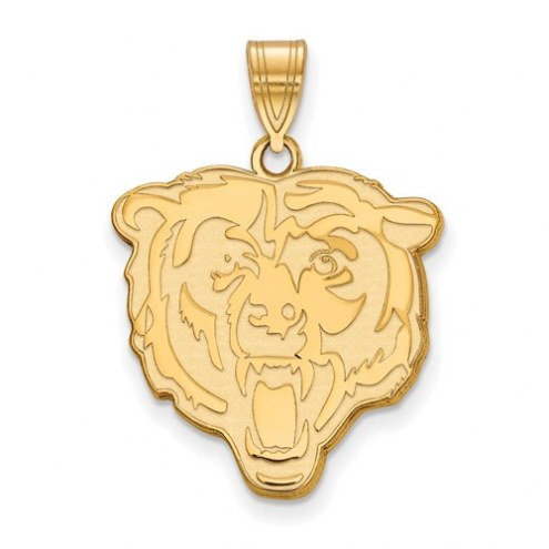 Chicago Bears Sterling Silver Gold Plated Large Pendant