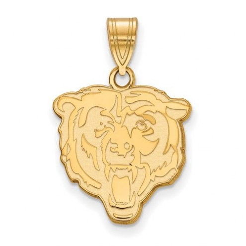 Chicago Bears Sterling Silver Gold Plated Medium Pendant