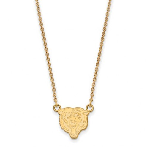 Chicago Bears Sterling Silver Gold Plated Small Pendant with Necklace