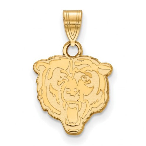 Chicago Bears Sterling Silver Gold Plated Small Pendant